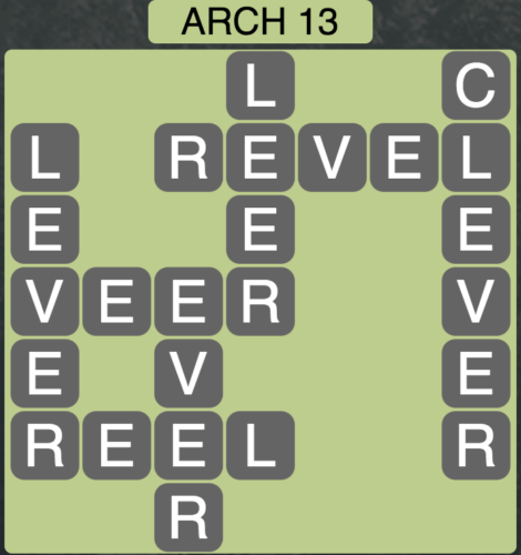 Wordscapes Arch 13 - Level 1597 Answers