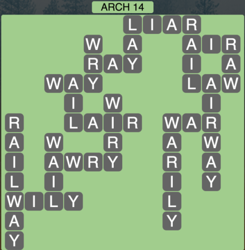 Wordscapes Arch 14 - Level 1598 Answers
