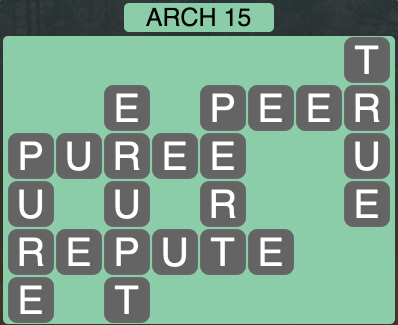 Wordscapes Arch 15 - Level 1599 Answers