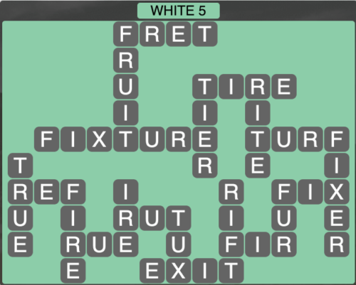 Wordscapes White 5 - Level 1605 Answers