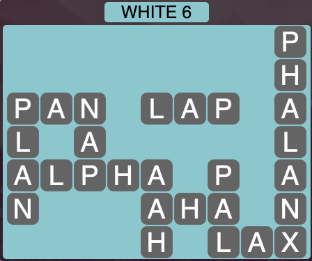 Wordscapes White 6 - Level 1606 Answers
