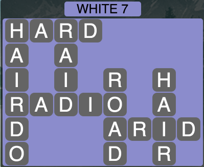 Wordscapes White 7 - Level 1607 Answers