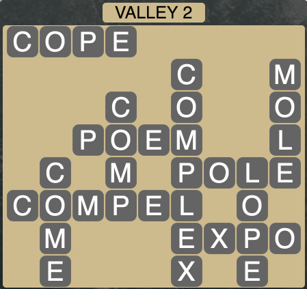 Wordscapes Valley 2 - Level 1618 Answers