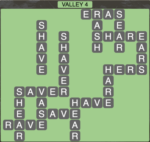 Wordscapes Valley 4 - Level 1620 Answers