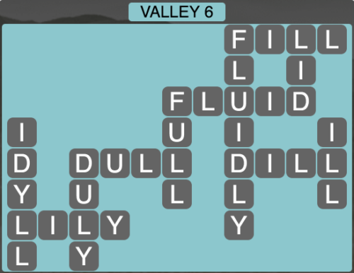 Wordscapes Valley 6 - Level 1622 Answers