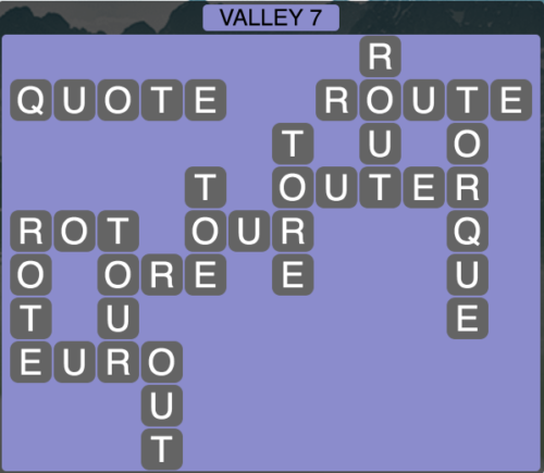 Wordscapes Valley 7 - Level 1623 Answers