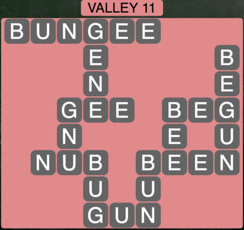 Wordscapes Valley 11 - Level 1627 Answers