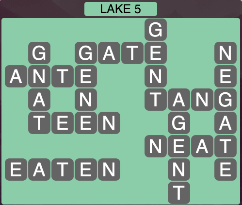 Wordscapes Lake 5 - Level 1637 Answers