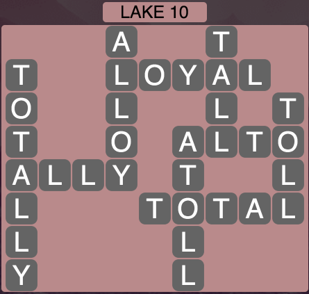 Wordscapes Lake 10 - Level 1642 Answers