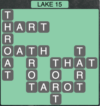 Wordscapes Lake 15 - Level 1647 Answers