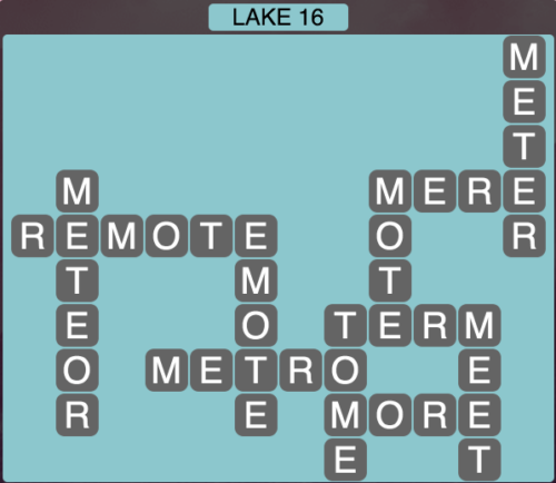 Wordscapes Lake 16 - Level 1648 Answers