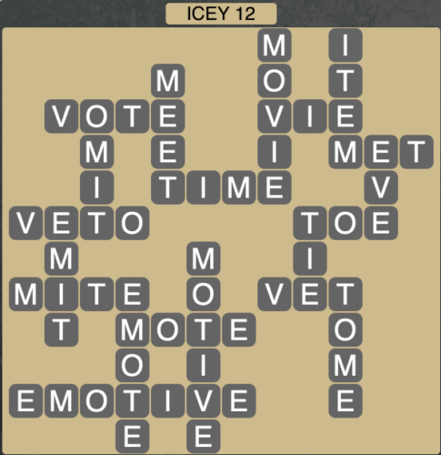 Wordscapes Icey 12 - Level 1660 Answers