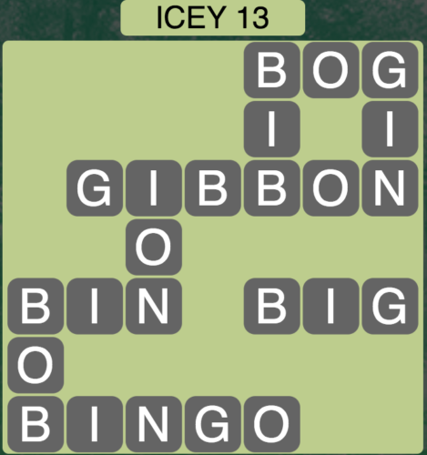 Wordscapes Icey 13 - Level 1661 Answers