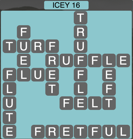 Wordscapes Icey 16 - Level 1664 Answers