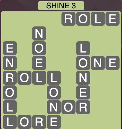 Wordscapes Shine 3 - Level 1667 Answers