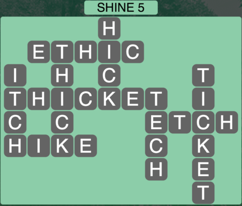 Wordscapes Shine 5 - Level 1669 Answers