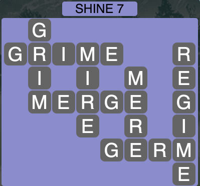 Wordscapes Shine 7 - Level 1671 Answers