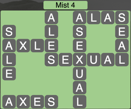Wordscapes Mist 4 - Level 1684 Answers