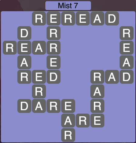 Wordscapes Mist 7 - Level 1687 Answers