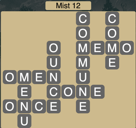 Wordscapes Mist 12 - Level 1692 Answers