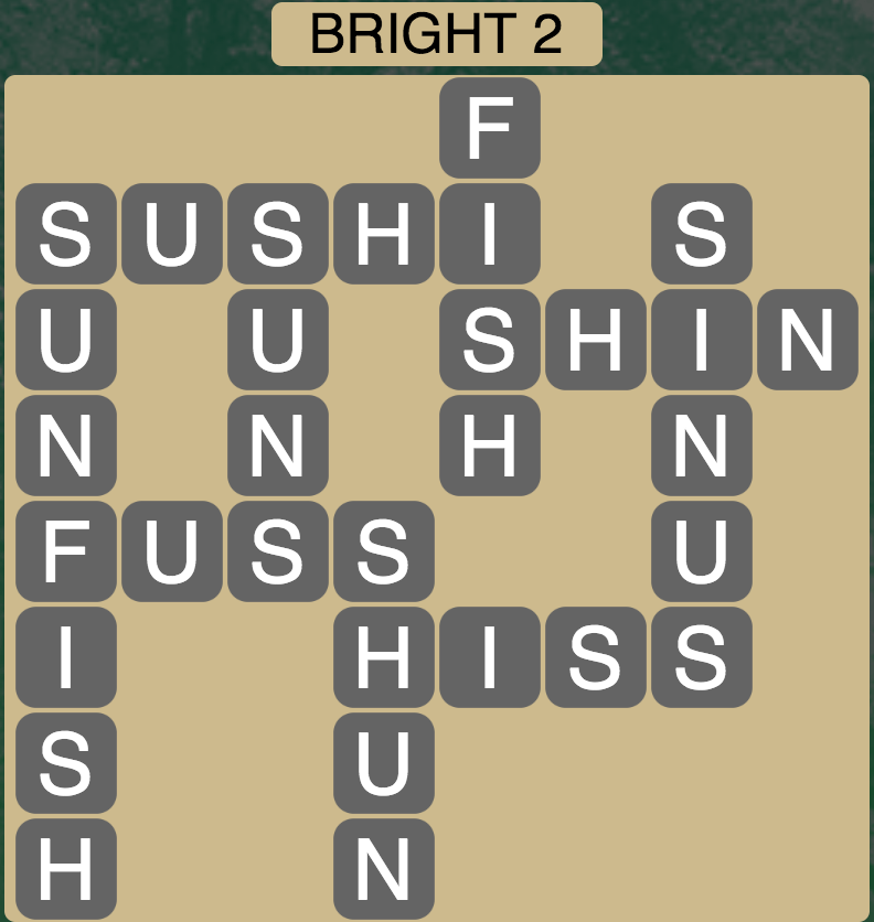 Wordscapes Bright 2 - Level 1698 Answer