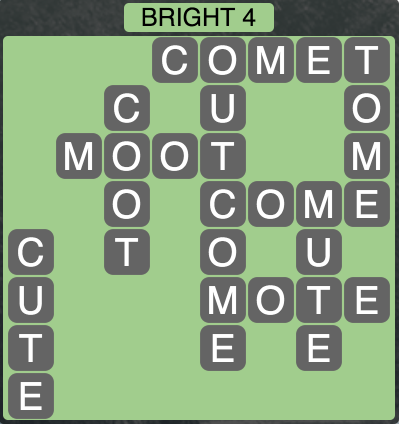 Wordscapes Bright 4 - Level 1700 Answer