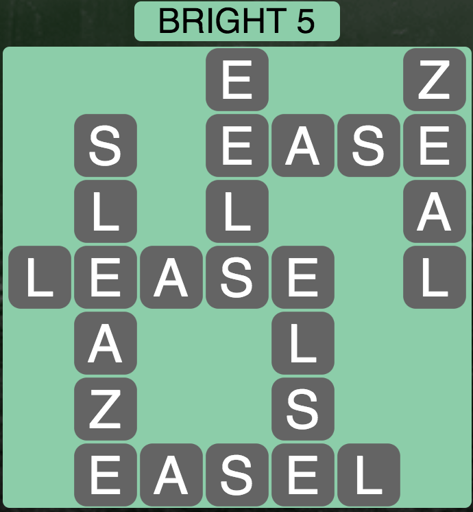 Wordscapes Bright 5 - Level 1701 Answer