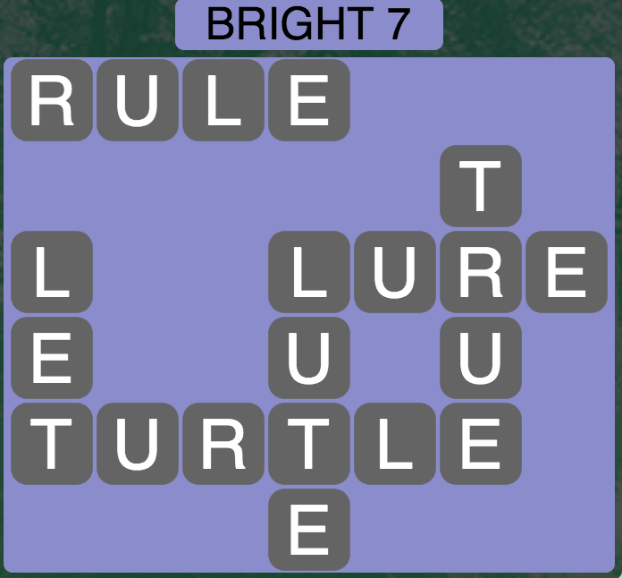 Wordscapes Bright 7 - Level 1703 Answer