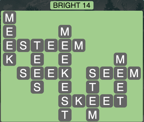 Wordscapes Bright 14 - Level 1710 Answer