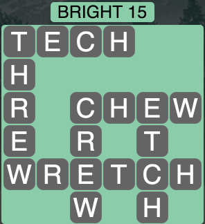 Wordscapes Bright 15 - Level 1711 Answer