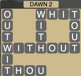 Wordscapes Dawn 2 - Level 1714 Answers