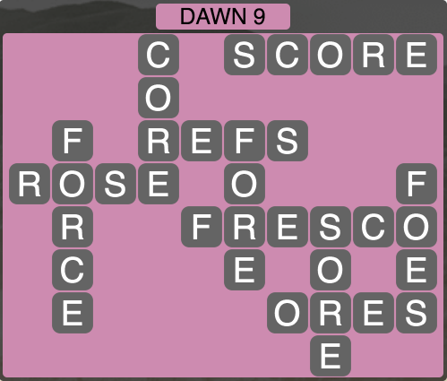 Wordscapes Dawn 9 - Level 1721 Answers