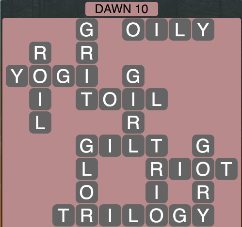 Wordscapes Dawn 10 - Level 1722 Answers