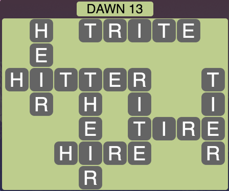 Wordscapes Dawn 13 - Level 1725 Answers