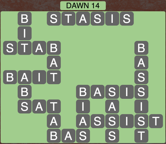 Wordscapes Dawn 14 - Level 1726 Answers