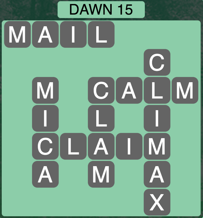 Wordscapes Dawn 15 - Level 1727 Answers