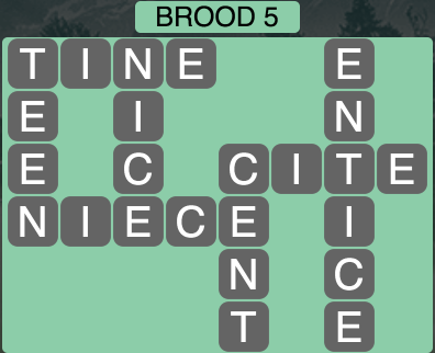 Wordscapes Brood 5 - Level 1733 Answers