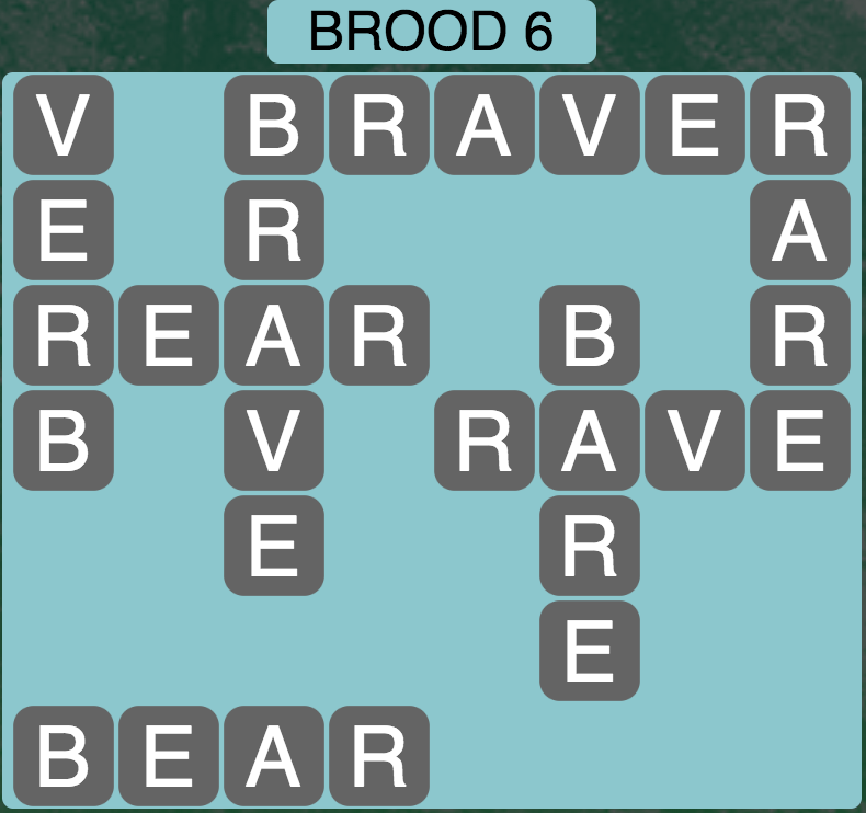 Wordscapes Brood 6 - Level 1734 Answers