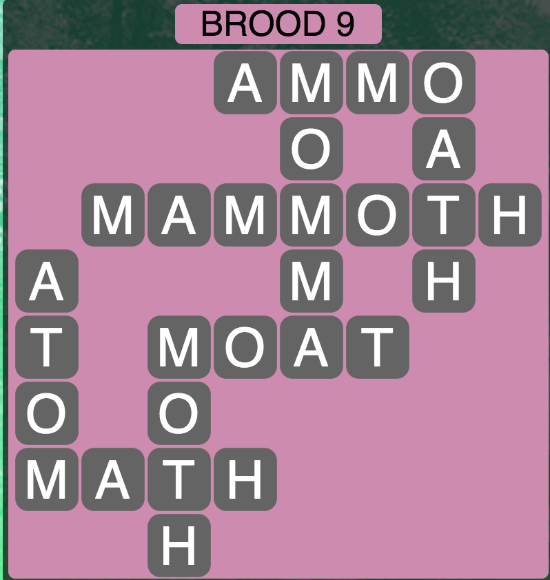 Wordscapes Brood 9 - Level 1737 Answers