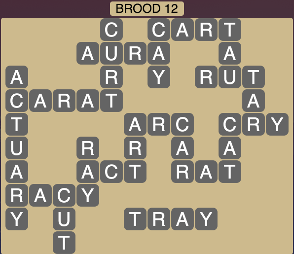 Wordscapes Brood 12 - Level 1740 Answers