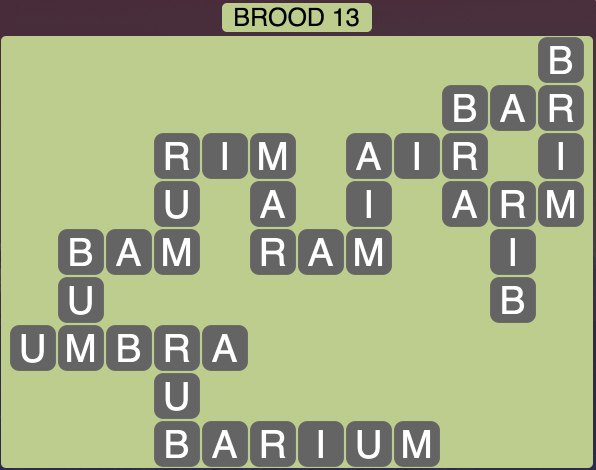 Wordscapes Brood 13 - Level 1741 Answers
