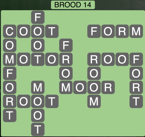 Wordscapes Brood 14 - Level 1742 Answers