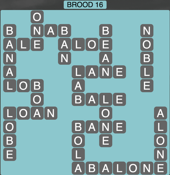 Wordscapes Brood 16 - Level 1744 Answers