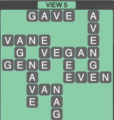 Wordscapes View 5 - Level 1749 Answers