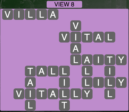 Wordscapes View 8 - Level 1752 Answers