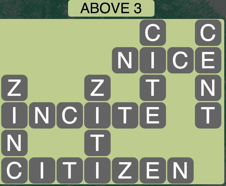 Wordscapes Above 3 - Level 1779 Answers