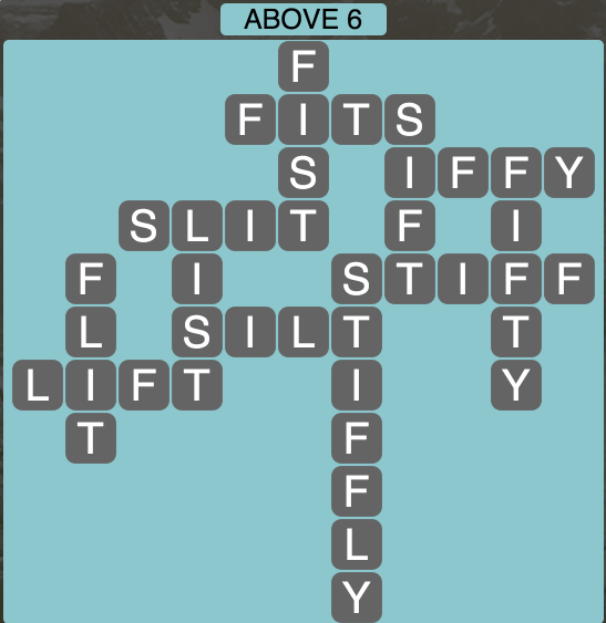 Wordscapes Above 6 - Level 1782 Answers