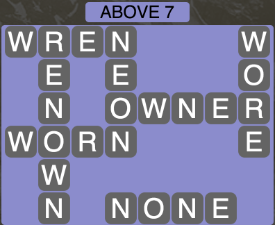 Wordscapes Above 7 - Level 1783 Answers