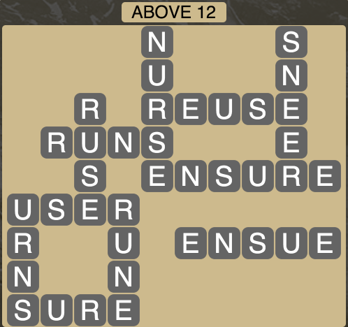Wordscapes Above 12 - Level 1788 Answers