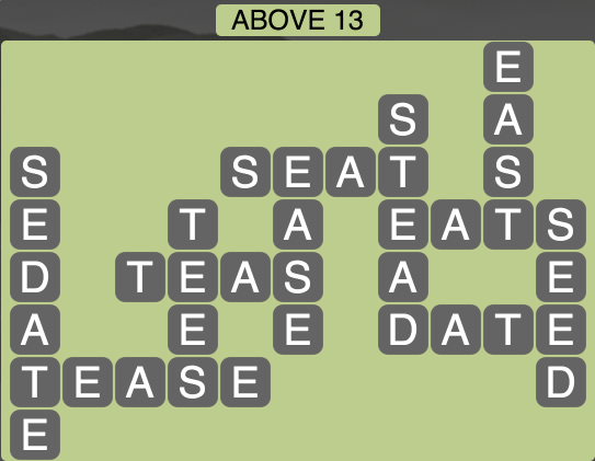 Wordscapes Above 13 - Level 1789 Answers